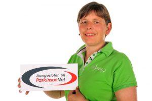 foto Ellen Smit met ParkinsonNet logo samenwerking